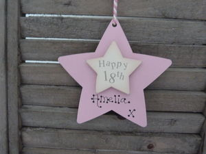 Personalised 18th Birthday Wooden Keepsake Sign - hanging decorations
