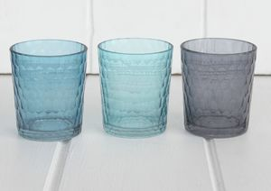 Assorted Blue Glasses - candles & candlesticks