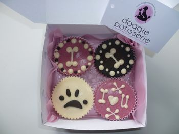 Four Dog Cupcakes