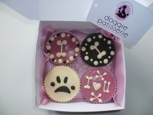 Four Dog Cupcakes - dogs