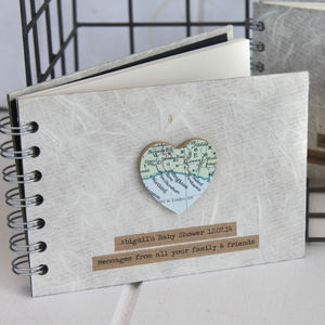 Personalised Vintage Map Pocket Book - albums & guestbooks