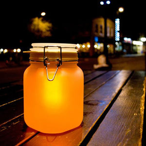 Sun Jar Yellow - outdoor lights & lanterns
