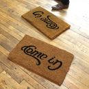 Ambigram Door Mat 'Come in, Go Away'