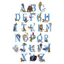 Full Alphabet in Blue