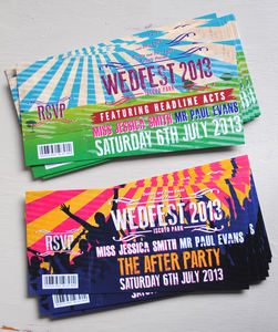 Festival Wedding Invitations - wedding stationery
