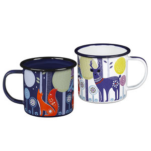 Folklore Woodland Enamel Mug - kitchen