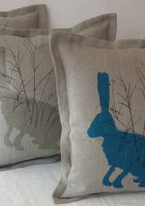 Hare Cushion - patterned cushions