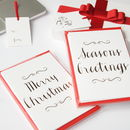 Luxury Gold Foil Christmas Card Set Of Six