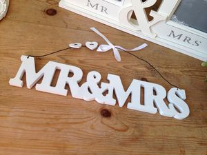 Wedding Mr And Mrs Hanging Sign - styling your day