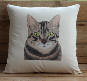 Tabby Cat Cushion Cover With Inner Option - cushions