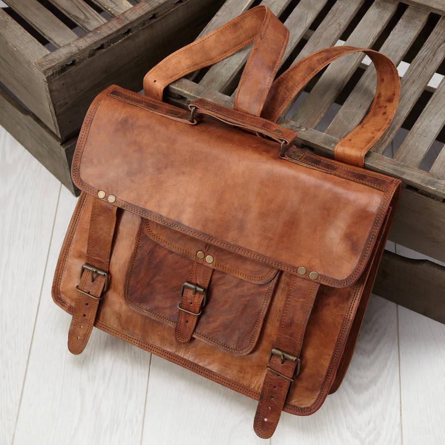 441af76b901 convertible leather backpack satchel by vida vida ...
