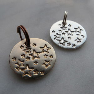 Personalised Star Charm Tags - mens