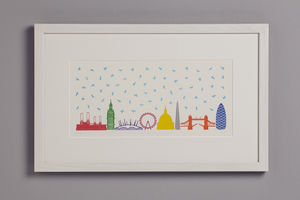 It's Raining Cats And Dogs In London - pictures & prints for children