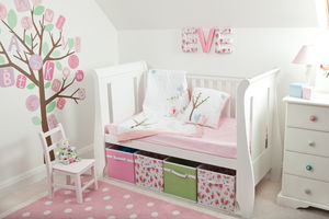Lovebird Cot Bed Quilt - children's room