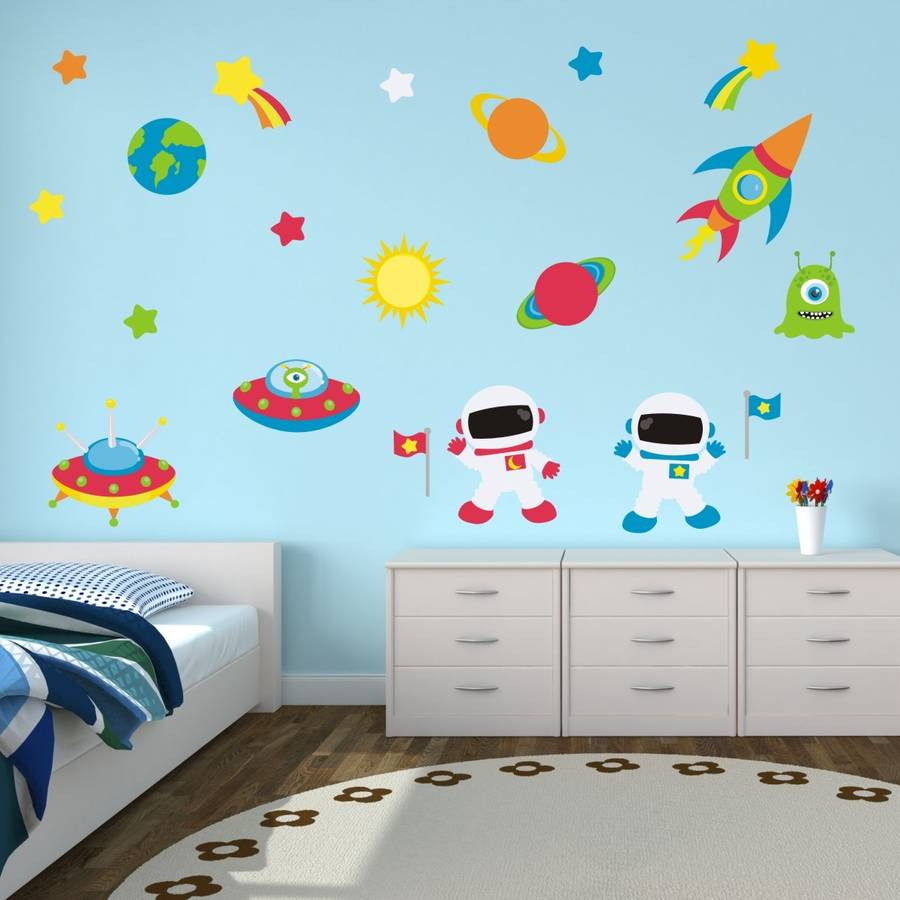 Astronauts In Space Wall Sticker. astronauts in space wall sticker by mirrorin   notonthehighstreet com