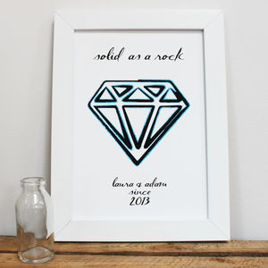 Personalised 'Solid As A Rock' Print - posters & prints for children