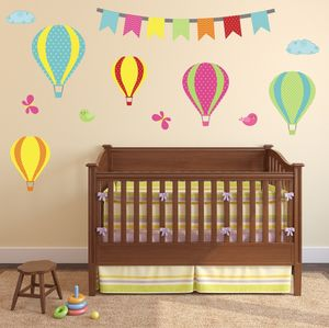 Hot Air Balloon Wall Stickers Set