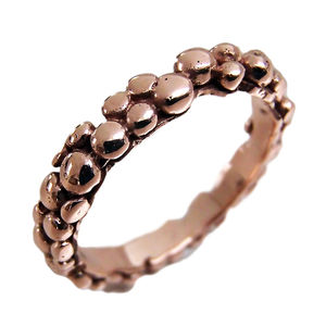 Hallmarked Rose Gold Bubble Band - gold & diamonds