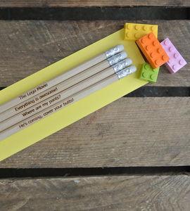 Lego Movie Inspired Pencils