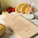 Personalised Wooden Recipe Chopping Board