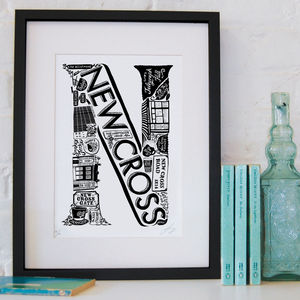 Best Of New Cross Screenprint - posters & prints