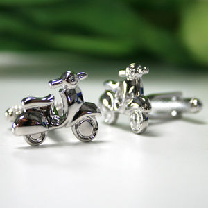 Vespa Scooter Cufflinks - men's accessories