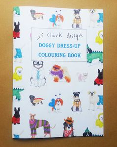 Colouring Book Doggy Dress Up