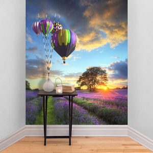 Hot Air Balloon Self Adhesive Wallpaper - office & study