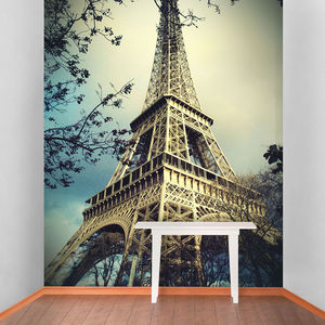 Eiffel Tower Self Adhesive Wallpaper - office & study