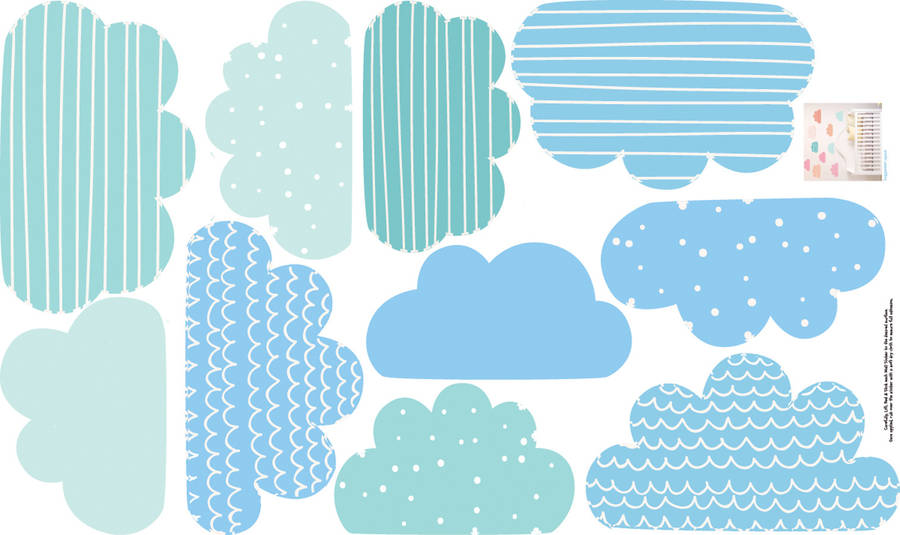 pastel clouds wall stickersparkins interiors