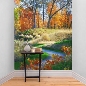 Autumn Scene Path Self Adhesive Wallpaper - office & study