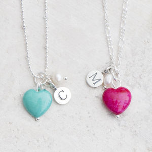Alice Stone Heart Personalised Necklace - little extras for her