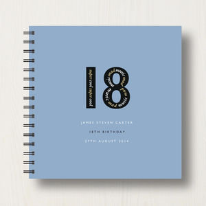 Personalised 18th Birthday Memories Album - for him