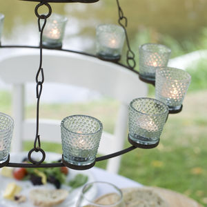 Glass Votive Tea Light Candle Holder