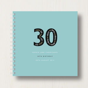 Personalised 30th Birthday Memories Album - 30th birthday gifts