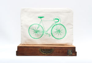 Green Bike Laptop Case