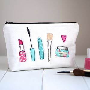 Large Applique Make Up Bag