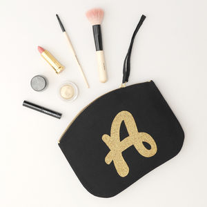 Glitter Initial Clutch - gifts for friends