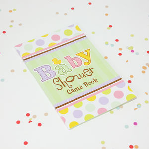 Baby Shower Games Book - baby shower decorations