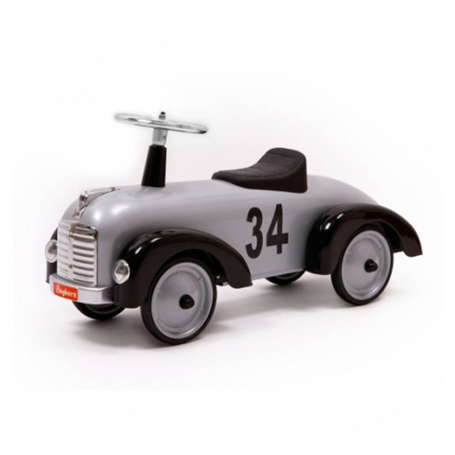 Silver And Black Ride On Car