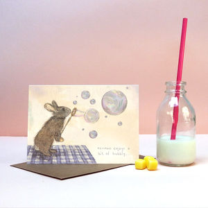 'Norman Rabbit' Greeting Card - easter cards