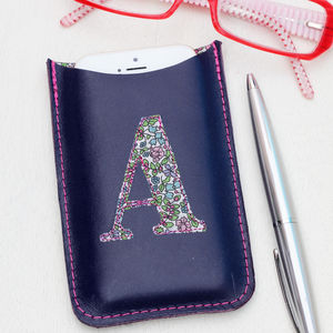 Personalised Monogram Phone Leather Cover - bags & purses