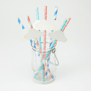Baby Shower Cloud Straws