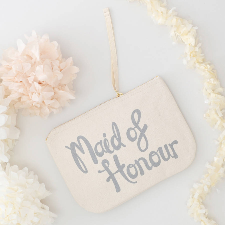 Maid Of Honour Canvas Pouch By Alphabet Bags Notonthehighstreet Com