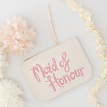 'Maid Of Honour' Canvas Pouch