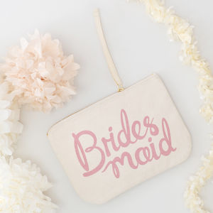 'Bridesmaid' Canvas Pouch - clutch bags