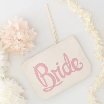 'Bride' Canvas Pouch