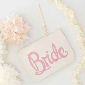 'Bride' Canvas Pouch - hen party gifts & styling