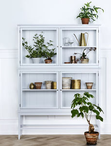 Grey Glass Scandinavian Cabinet