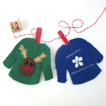 Make Your Own Christmas Jumpers Decorations